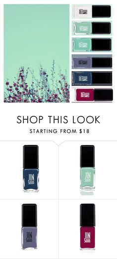 """""""Photo Nails - Flowers"""" by egordon2 ❤ liked on Polyvore featuring beauty, JINsoon and Jin Soon"""