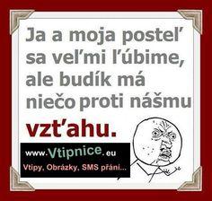 Srandovní obrázky - postela a budík Funny Memes, Jokes, Motto, Haha, Diy And Crafts, Humor, Signs, Quotation, Sarcasm