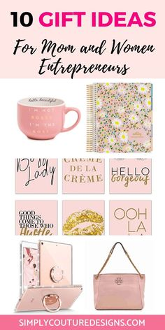 10 Gift Ideas for gift ideas for mom entrepreneurs -Simply Couture Designs Diy Gifts For Mom, Great Gifts For Women, Gifts For Boss, Easy Gifts, Creative Gifts, Christmas Gift Guide, Christmas Gifts For Women, Birthday Gifts For Women, Perfect Christmas Gifts