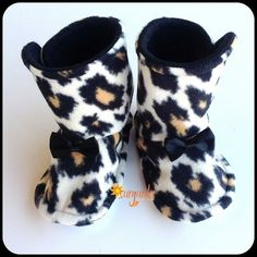 36c90e085e Baby Girl Boots Infant Toddler Boots Fleece Flannel by Sunjunki