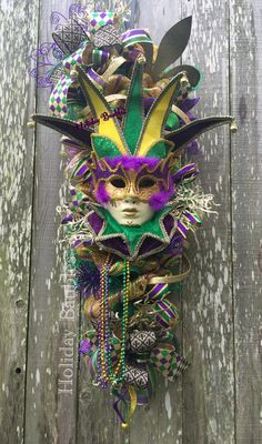 Mardi Gras Jester Swag by Holiday Baubles on Facebook