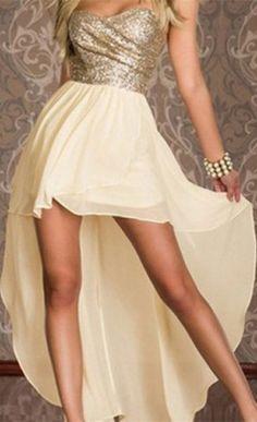 Sequin High Low Dress