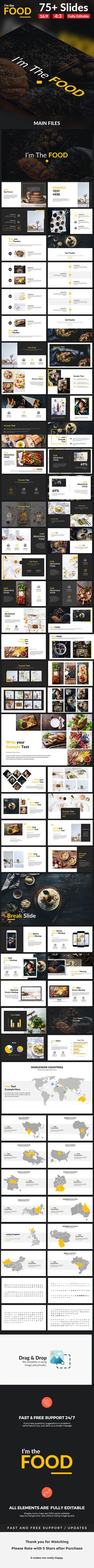 I'm The Food  Google Slide Template  #powerpoint presentation #infographic • Download ➝ https://graphicriver.net/item/im-the-food-google-slide-template/18542502?ref=pxcr