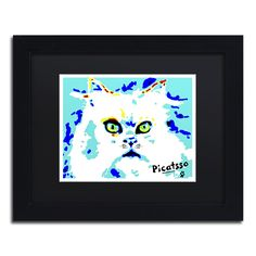 'Picatsso the Meowdern Art Cat' by Lowell S.V. Devin Giclée Framed Painting Print