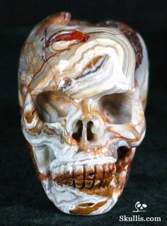 Crazy Lace Agate Crystal Skull