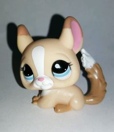 Littlest Pet Shop Tan White Pink Brown Chinchilla Blue Eyes #2242 Preowned LPS in Toys & Hobbies, Preschool Toys & Pretend Play, Littlest Pet Shop | eBay