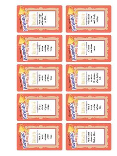 Children sometimes need positive incentives to do their chores. Instead of nagging, reward kids with one of these cards. Inexpensive prizes for a job well done or for good behavior. Print and cut out these cards and watch kids make an extra effort in order to win one.