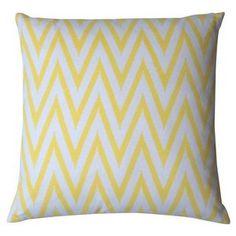 Zik-Zak Pattern Cushion 40x40cm Yellow