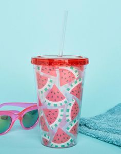 Buy Sass & Belle Watermelon Straw Tumbler Water Bottle at ASOS. With free delivery and return options (Ts&Cs apply), online shopping has never been so easy. Get the latest trends with ASOS now. Cute Water Bottles, Drink Bottles, Que Bottle, Tropical Cupcakes, Gifts For Women, Gifts For Her, Watermelon Designs, Kawaii Diy, Sass & Belle