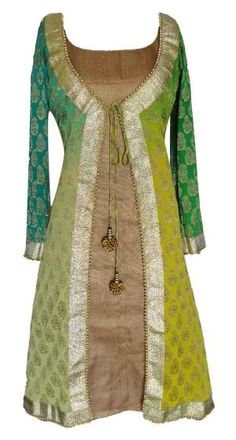 Sneha Jain -- Green Shaded Kurti by concepcion