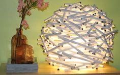 luminária de papel  -DIY - Faça você mesmo - Reciclagem de Papel