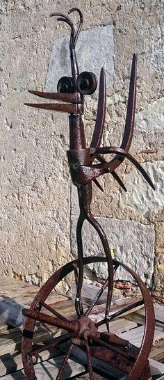La lissonni re art des jardins sculptures en m tal et - Sculpture exterieure metal ...