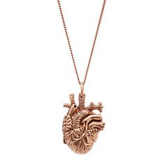 Look what I found at UncommonGoods: Tiny Rose Gold Anatomical Heart Pendant for $150.00