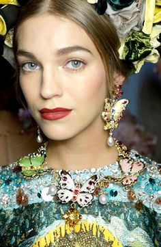 Romantic Butterfly Trend Dolce & Gabbana Alta Moda Spring Summer 2014 #couture