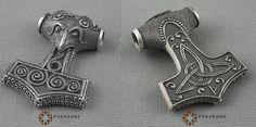 Viking Mjölnir Pendant, replica of the famous Skane Hammer, sterling silver, medium size... by Pakabone http://www.ebay.co.uk/itm/THORS-HAMMER-MJOLLNIR-MJOLNIR-Mjolnir-VIKING-Pendant-Sterling-Silve-art-125-/181735809293