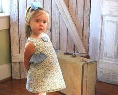 Maddie  Girl's Ruffled Dress PDF Pattern. Girl by RubyJeansCloset, $7.95
