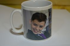 Printed Mug Photo and Text Design - Engraved and Signed