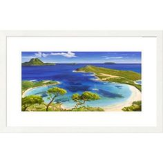 Global Gallery 'Coastal Mediterraneo' by Adriano Galasso Framed Painting Print Size: