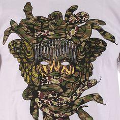 Crooks And Castles X Ssur Multicam Medusa T-Shirt - White
