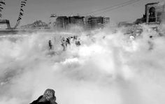 Gas bombs and Protesters