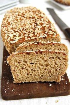 Receita de Pão de Aveia fitness sem glúten, sem leite, sem ovo muito rápido e fácil de preparar!