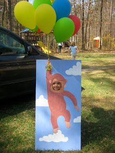 Medina Adventures: a curious george birthday party - love the photo cutout idea!