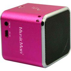 COD. 55697P Technaxx Mini MusicMan BT-X2 Speaker portatile batteria ricaricabile- conessione Bluetooth per Smartphone- Tablet- Music Player Rosa € 46,24