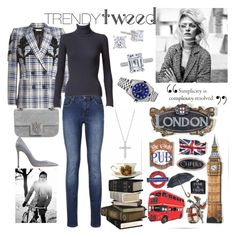 """""""Trendy Tweed"""" by anna-gabedava ❤ liked on Polyvore featuring Alexander McQueen, Alaïa, Gianvito Rossi, Rolex and Tiffany & Co."""