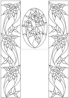 For when I'm a lot better at this. Glass Painting Patterns, Stained Glass Patterns Free, Glass Painting Designs, Stained Glass Designs, Stained Glass Projects, Mosaic Patterns, Paint Designs, Embroidery Patterns, Mosaic Art