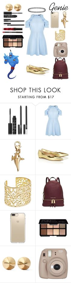 """Genie"" by crystalgems125 ❤ liked on Polyvore featuring NARS Cosmetics, New Look, Disney, Paul Andrew, Lauren Ralph Lauren, Michael Kors, Speck, Smashbox, Eddie Borgo and Fujifilm"