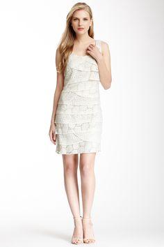 SL Fashion SL Fashion Crochet Shutter Pleated Dress | Nordstrom Rack