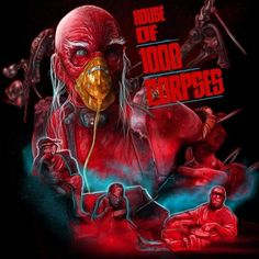 House of 1000 Corpses Horror Icons, Horror Movie Posters, Horror Films, Film Posters, Rob Zombie Film, Zombie Movies, Sci Fi Movies, American Horror Movie, Creepy Horror