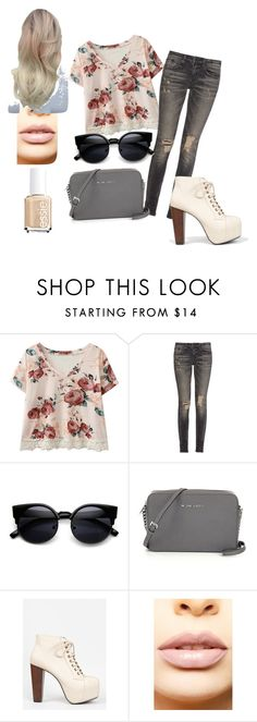 """Floral Republic"" by maya7277 ❤ liked on Polyvore featuring R13, Speed Limit 98, LASplash, Essie, women's clothing, women, female, woman, misses and juniors"