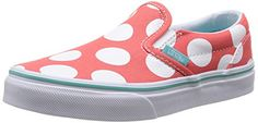 Vans Kids Classic Slip-On (Polka Dots) Hot Coral 10.5 >>> You can find more details at http://www.amazon.com/gp/product/B00L88F3E6/?tag=lizloveshoes-20&bc=130816020646