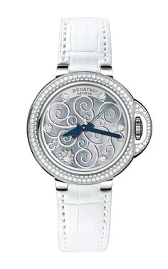 Limited Edition Stainless Steel and Diamond Ladies' Watch on White Alligator Strap by Bedat