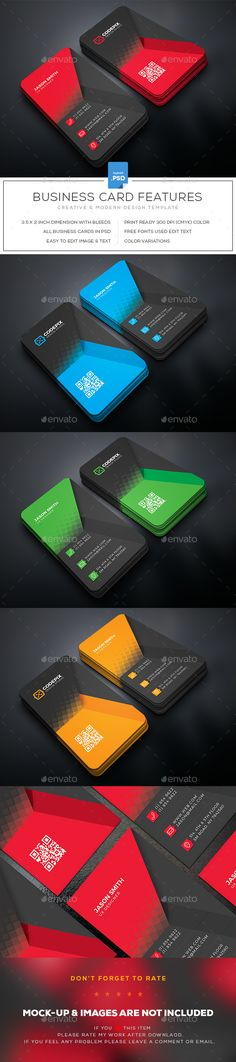 #Business #Card - Business Cards Print #Templates Download here:  https://graphicriver.net/item/business-card/19462900?ref=alena994