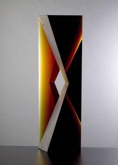Josef Marek - Object: Purity - mould melted glass partially polished /// Czech Glass Art /// czech-glassart.com