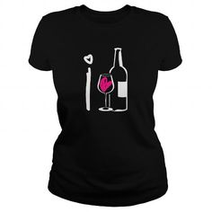 I Love Wine T Shirts, Hoodies, Sweatshirts. CHECK PRICE ==► https://www.sunfrog.com/Drinking/I-Love-Wine-90094057-Black-Ladies.html?41382