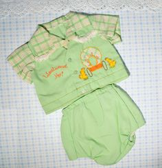 Vintage Baby Boys Clothes 1950's Western by OneLittleVintage