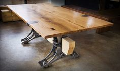 A Brandner Design Original. The Truss Dining Table pays tribute to one of the most integral elements of the industrial age, the truss.