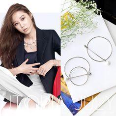 【U-JULY】韩国进口《制作人》孔孝真同款时尚摩登珍珠圆环手镯-淘宝网全球站
