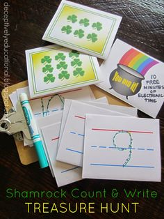 Relentlessly Fun, Deceptively Educational: Shamrock Count & Write Treasure Hunt