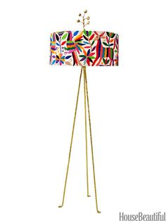 Otomi Floor Lamp. #gold #embroidery