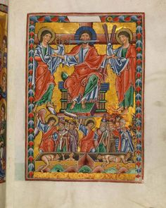 Last Judgement - Bamberger Psalter (1220 - 1230 AD) - Digital collection of Bamberg State Library