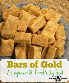 Bars of Gold, a 3 ingredient St Patrick's Day treat.
