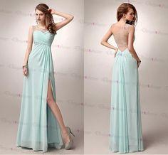 Brilliant Tulle & Chiffon One Shoulder Neckline A-Line Prom Dresses on Luulla