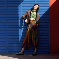 #MMissoni | green Crop Top and Sarouel Pants | Summer 2014 Catalogue