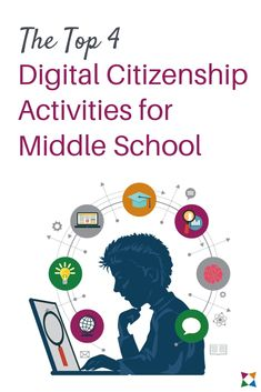 Teaching digital citizenship is crucial in middle schools. But how do you start, and how do you keep students engaged? Check out these 4 digital citizenship activities to find out! #middleschool #digcit #digitalcitizenship #digitalliteracy #edtech