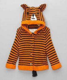 Take a look at this Orange & Black Tiger Sweater - Infant & Toddler by Toto Knits on today! Animal Sweater, That Look, Take That, Black Tigers, Baby Comforter, Sweater Making, Infant Toddler, Baby Knitting, Knits