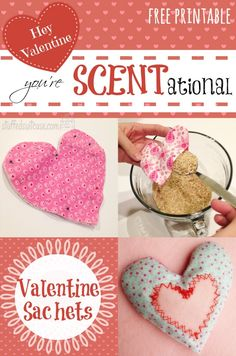 Valentine Crafts Sachets - Hey Valentine You're SCENTational Free Printable StuffedSuitcase DIY sewing project Homemade Valentines, Valentines Day Party, Valentine Day Crafts, Holiday Crafts, Diy Sewing Projects, Craft Projects, Project Ideas, Craft Ideas, Scented Sachets